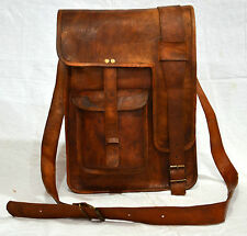 Men's Genuine Leather Cowhide Brown Attache Briefcase  Laptop Bags Portfolio