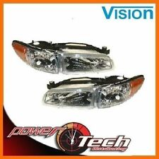 NEW 97-03 PONTIAC GRAND PRIX HEADLAMPS HEADLIGHTS w/ 4300K BULBS SET PAIR NEW