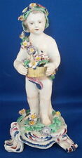18thC Bow Porcelain Large Putto Figurine Figure Porzellan Figur English England