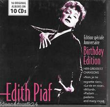 "10 CD Edith Piaf ""16 Original Albums - Chansons"" Neu/OVP La Vie En Rose, Milord"