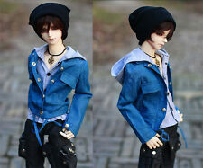 Cool Jeans Denim Jacket+Grey Shirt+Cap 1/4,1/3 SD17 Uncle BJD Doll Clothes CMB1