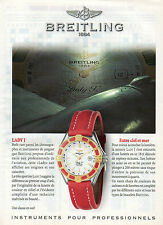 Publicité Advertising 1997  Montres BREITLING  LADY  J  bijoux collection