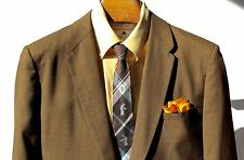 Palm Beach 44L Vintage 1960s Olive / Dark Brown Check Sport Coat - USA