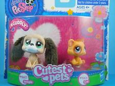 Littlest Pet Shop LPS - Brown Beagle Puppy Dog #2413 - Orange Kitty Cat #2414