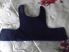 Navy blue fleece dog coat size small 12ins chest