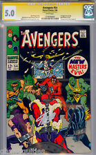 AVENGERS #54 CGC 5.0 WHITE PAGES (1965) SS STAN LEE SIGNED CGC #1278784003