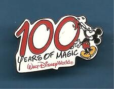 Pin's pin DISNEY MICKEY 100 YEARS OF MAGIC WALT DISNEY WORLD (ref L02)