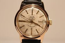 "VINTAGE RARE GERMANY GOLD PLATED GUB GLASHUTTE""67.1 MEN'S AUTOMATIC WATCH"