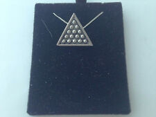 S5   Snooker Triangle on a 925 sterling silver Necklace Handmade 26 inch chain