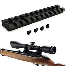 Low Profile Ruger 10/22 Picatinny Rail Mount for Scopes and Optics Tactical
