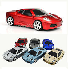 Red Ferrari car USB 2.4G Wireless Mouse Mice Optical for Laptop Mac PC 1600DPI