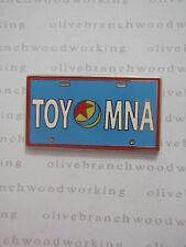 """Disney Toy Story Midway Mania BLUE """"TOY MNA"""" Attraction License Plate Frame Pin"""