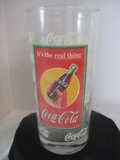 "CocaCola ""It's the real thing"" Drinking Glass ~ **Gift Idea"