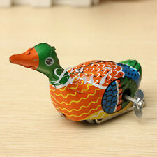 Creative Wind Up Tin Toy Retro Clockwork Metal Floating Swimming Duck Goose