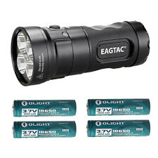 EagleTac MX25L4C XM-L2 LED Base Model 4800Lm Flashlight w/4x 3400mAh Batteries