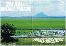 Coupure de presse Clipping 1992 (8 pages) Safari :Tanzani paradis