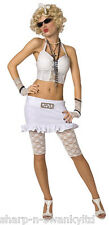 Ladies 1980s Famous Celebrity Madonna 80s Bad Girl Fancy Dress Costume Outfit