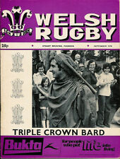 WELSH RUGBY MAGAZINE SEPTEMBER 1976, FISHGUARD & GOODWICK RFC, BARRY YOUTH