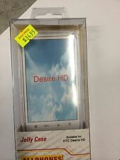 HTC Desire HD Fitted TPU Jelly Case Cover in White Brand New in Original Package