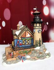 Dept. 56 Lynton Point Tower Lighthouse AS IS Lighted Christmas Dickens Village