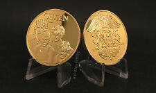 QUEEN GOLD COIN Freddie Mercury Brian May Roger Taylor British Rock Band Album