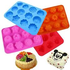 12 - Flower Silicone Ice Cube Chocolate Cake Cookie Cupcake Soap Molds Mould Pan