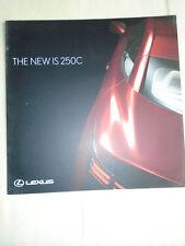 Lexus IS 250C range brochure Jan 2009 Irish market