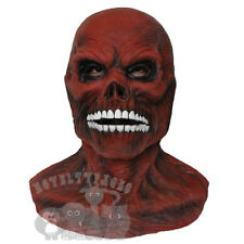 Popular Halloween Red 'Skinless Skull Head with Chest' Latex Horror Props Mask