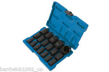 WINTER SALE! IMPACT SOCKET SET 18pce 10mm - 32mm IN STORAGE CASE 1/2 DRIVE