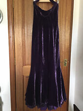 Ralph Lauren 10 purple faux velvet halter neck evening dress