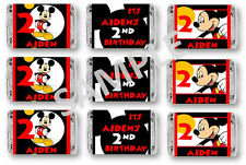 Mickey Mouse Mini Candy Bar Wrappers - Birthday Favors - Set of 84