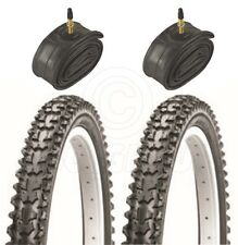 2 Bicycle Tyres Bike Tires - Mountain bike - 26 x 1.95 - With Presta Tubes
