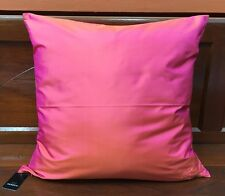 "JIM THOMPSON CLASSIC PINK THAI SILK SQUARE CUSHION PILLOW COVER 18"" X 18 """