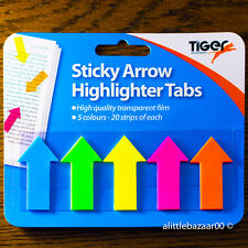 Sticky Note Arrow Shape Highlighter Repositionable Index Tabs Flags Page Markers