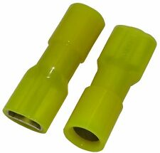 10x Cosse électrique femelle plate 6.3mm 0.8mm 5.5mm2 isolée jaune