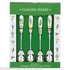 Garden Herbs Set Of 4 Ceramic Handheld Tea Spoon