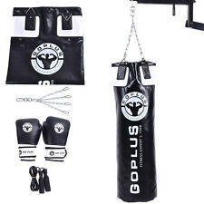 100cm Adults Punching Bag Boxing Equipment w/ Sandbag Gloves Skipping Rope Chain