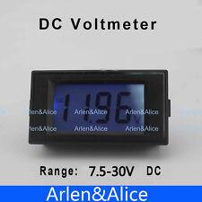 LCD Digital Panel Voltmeter DC 7.5-30V Blue backlingt DC Monitor voltage meter