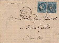 France Lettre/Cover N°45x2 Bayonne pour Montpellier 1870
