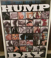 HUMP DAY POSTER VINTAGE PLAYBOY MODEL HOT NUDE RARE 2015 HOT ASSES BUMS