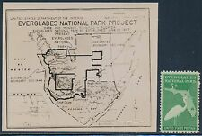 "#952E 3¢ ""EVERGLADES NATIONAL PARK"" ISSUE B.E.P. PHOTO ESSAY (EX-JOHL) BT3164"