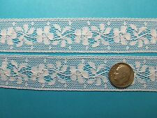 "French Heirloom Cotton Lace Insertion 1&3/16"" White Fashion/Craft/Doll Lace21234"