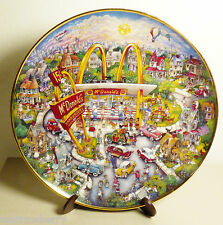 McDonald's Golden Moments Plate Limited Edition Franklin Mint by Bill Bell stand