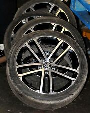 "18"" VW GOLF 7 VII - NOGARO ALLOY WHEELS TYRES 5G0601025 AO / GTD GTI R GENUINE"