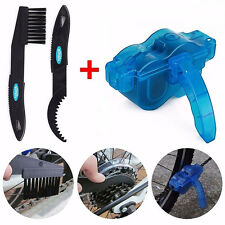 Bike Bicycle Cycling Chain Wheel Cleaner Wash Brushes Scrubber Tool Set Kit Blue