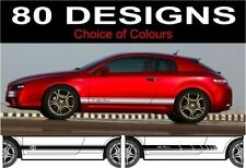 side stripes fits Alfa Romeo Brera choice of decals stickers design