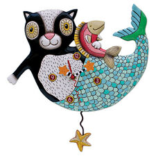 〓 Michelle ALLEN DESIGNS Desk Wall Clock Cat Mermaid Design MerCat