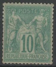 """FRANCE STAMP TIMBRE N° 65 """" SAGE 10c VERT TYPE I 1876 """" NEUF x TB A VOIR   N456"""