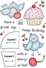 INKY ANTICS HoneyPop Clear Stamps BIRTHDAY BIRDY Have a Great Day With A Cherry