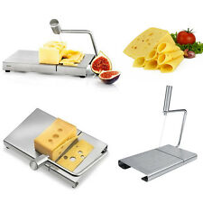 Stainless Steel Cheese Slicer Butter Board Wire Cutting Kitchen Baking Hand Tool